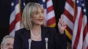 Republican Jan Brewer, after being sworn in as the twenty-second governor of Arizona, addresses those gathered during inauguration ceremonies on Jan. 21, 2009, in Phoenix.