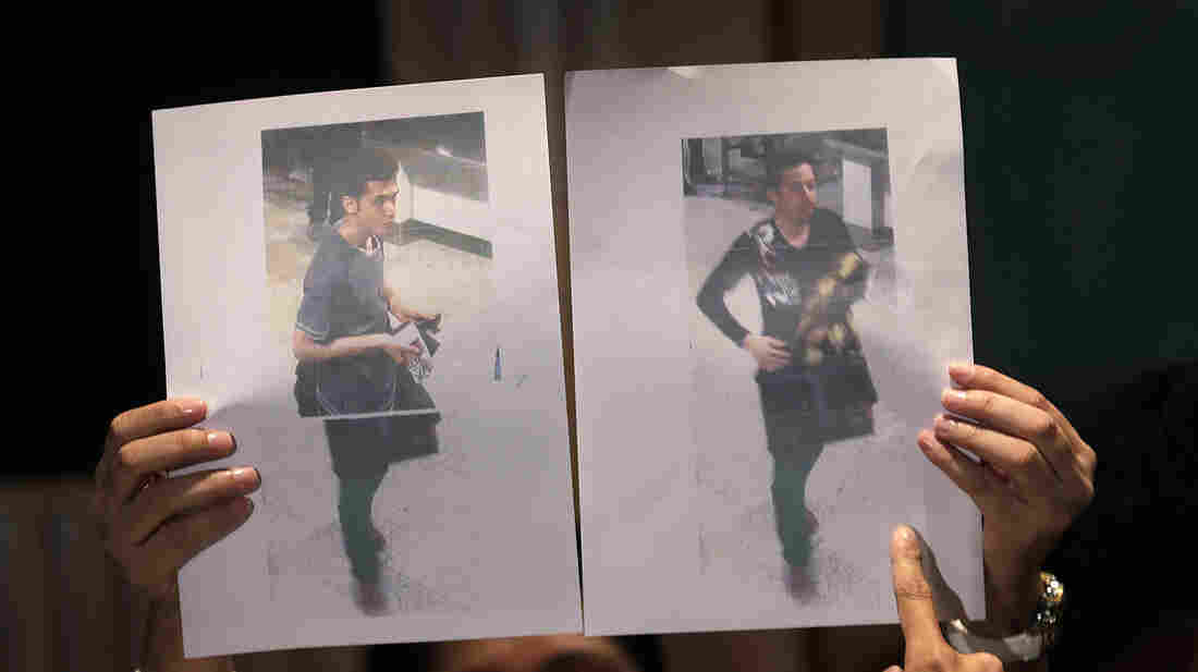 Pictures of the two Iranians — 19-year old Pouria Nour Mohammad Mehrdad (left) and 29-year-old Delavar Seyedmohammaderza.