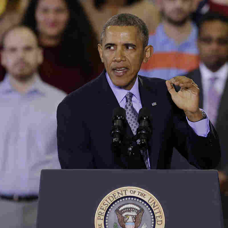 "President Obama speaks about raising the minimum wage to $10.10 per hour during an event last week in New Britain, Conn. The effort to raise wages is seen as part of his State of the Union promise of a ""year of action."""