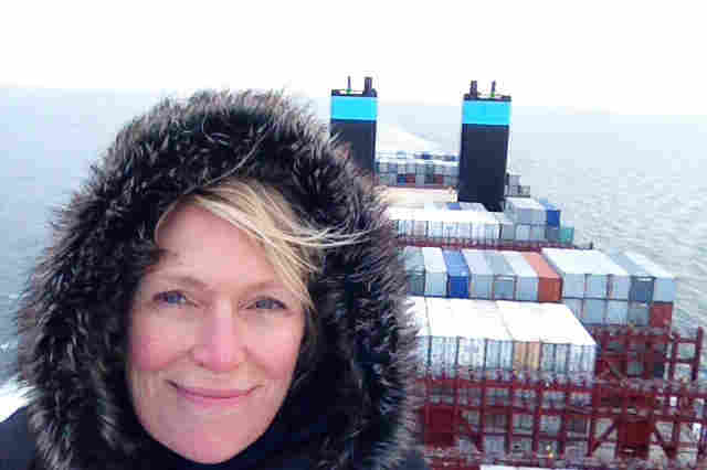 NPR's Jackie Northam on the Maersk McKinney Moller, a new container megaship that can carry about double what many other big cargo ships can carry. It's 20 stories high and four football fields long.