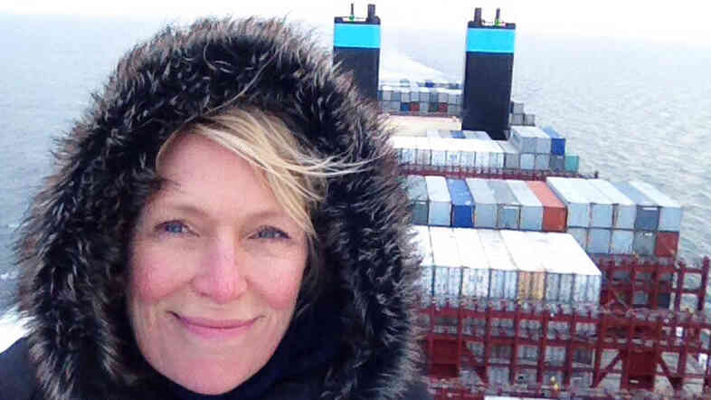 NPR's Jackie Northam on the Maersk McKinney Moller, a new container megaship that can carry about double what many other big cargo ships can. It's 20 stories high and four football fields long.