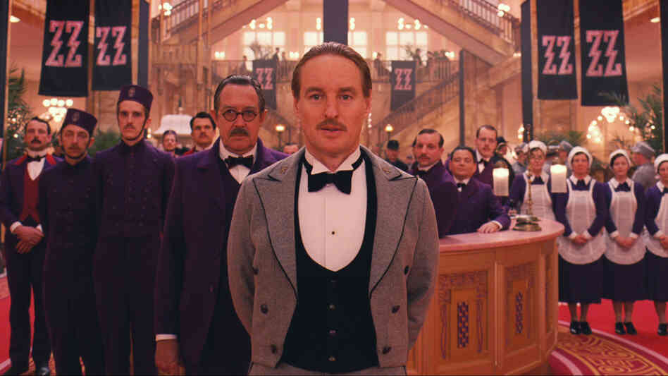 Wes Anderson shot the Grand Budapest Hotel's lobby scenes in a German department store.
