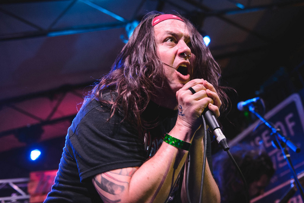 """Here are five songs from our new record. Please give us two minutes of your time."" Iron Reagan -- a hardcore band featuring members of Municipal Waste and Darkest Hour -- keeps it simple at Mohawk."