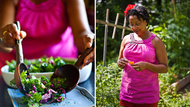 JuJu Harris is the author of The Arcadia Mobile Market Seasonal Cookbook. A former recipient of government food assistance, she now teaches healthy eating skills to low-income families in Washington, D.C.