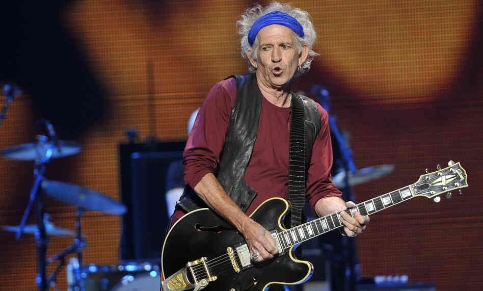 Keith Richards of the Rolling Stones performs in May 2013 in Los Angeles.