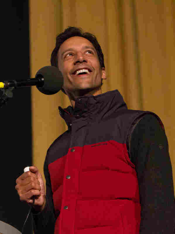 Danny Pudi, at the Castro Theatre in San Francisco, where Ask Me Another performed as part of SF Sketchfest, the comedy festival.