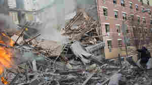 Two buildings collapsed in Harlem on Wednesday after an