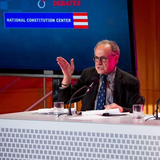 Harvard University law professors Alan Dershowitz (left) and Noah Feldman argue that the president's war-making powers give him the authority to target U.S. citizens overseas.