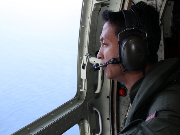 The Malaysian air force, with help from about a dozen other nations, continues to search the seas on both sides of the Malay Peninsula for any sign of Flight 370.