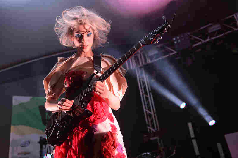 Annie Clark of St. Vincent played a highly-choreographed and highly-charged set at Stubb's.