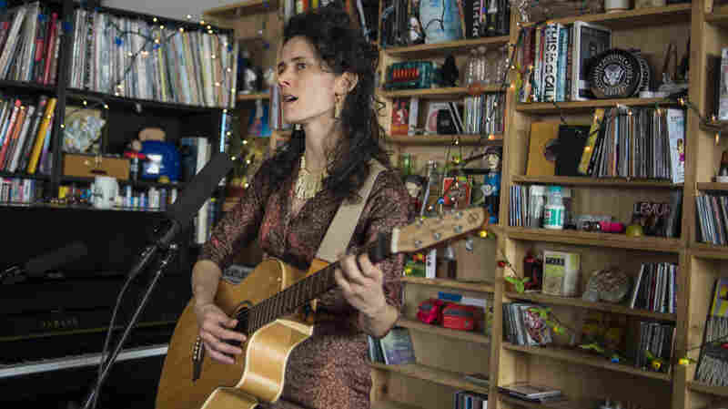Diane Cluck performs at a Tiny Desk Concert in February 2014.
