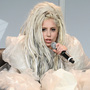 Lady Gaga donned luxurious plastic bags for her SXSW Keynote on Friday.