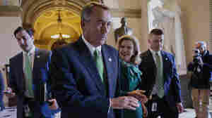 House Speaker John Boehner of Ohio leaves the House chamber on Capitol Hill in Washington, after House Republicans passed a measure Friday that would overhaul the system Medicare uses to pay doctors.