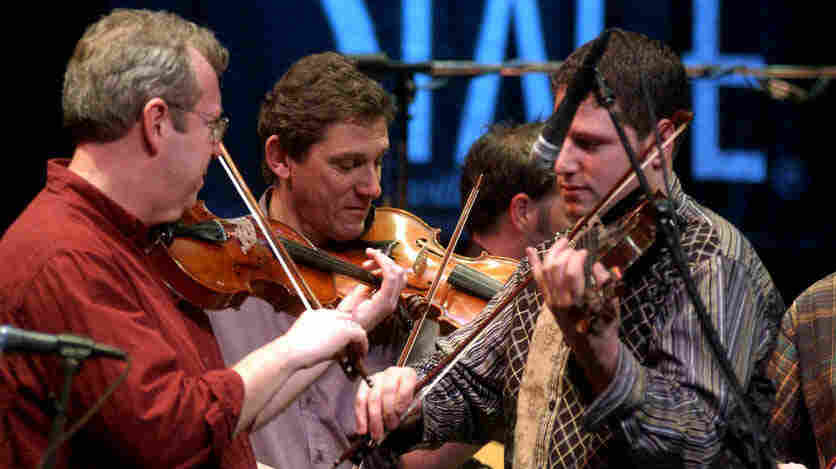 Celtic Fiddle Festival performing on Mountain Stage in 2005.