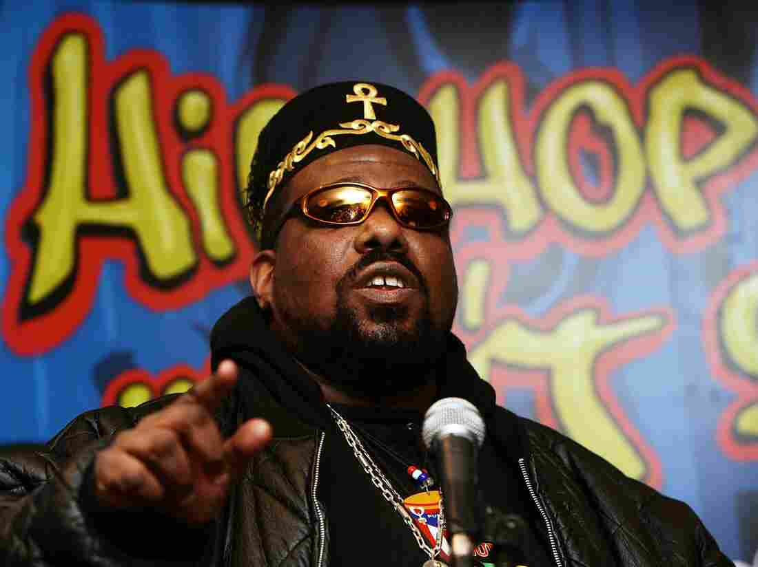 Hip hop pioneer Afrika Bambaataa at a press conference in 2006. His Zulu Nation group, formed in the 1970s to combat street violence, soon began incorporating Nation of Islam teachings in its rhetoric.