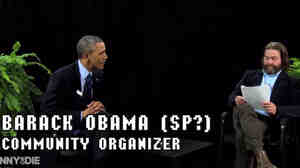 The president joined host Zach Galifianakis on the Funny or Die mock talk show, Between Two Ferns this week. Obama was there to promote the Affordable Care Act.