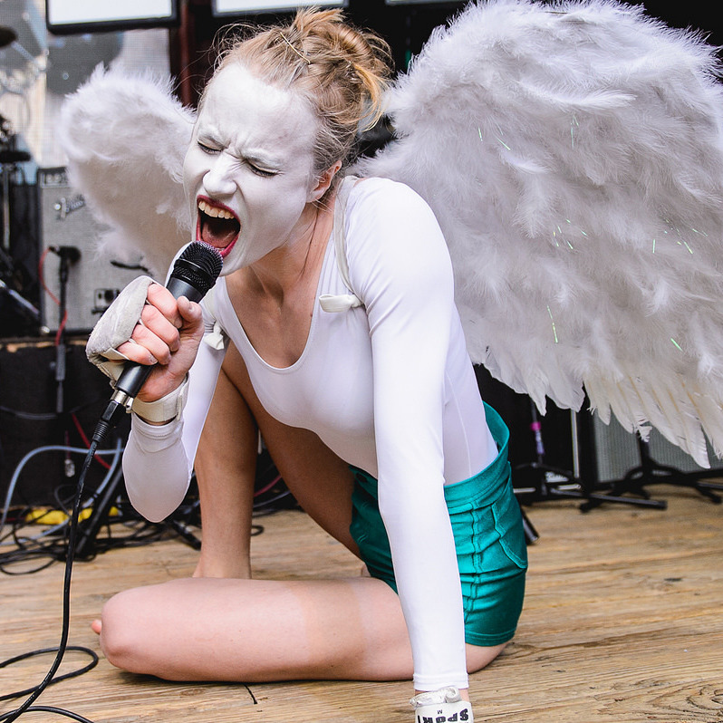 With a Bjork-like voice and a heart-breaking vibe out of The Sundays, Kristal and Jonny Boy's set at Cedar Street Courtyard was enthralling performance art.