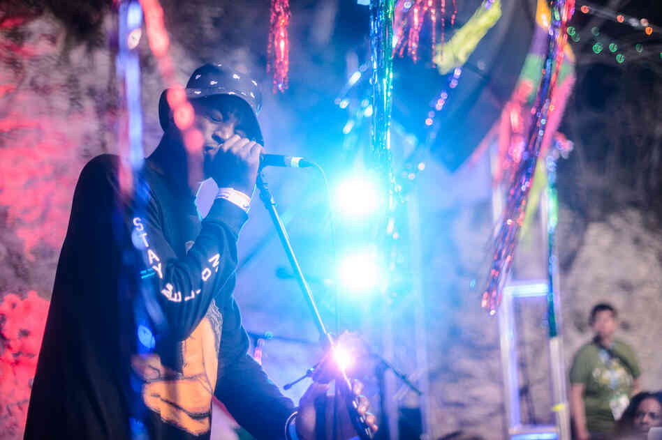 Yannick Ilunga led the Cape Town-based Petite Noir with his sweet, somber voice at Cheer Up Charlie's.