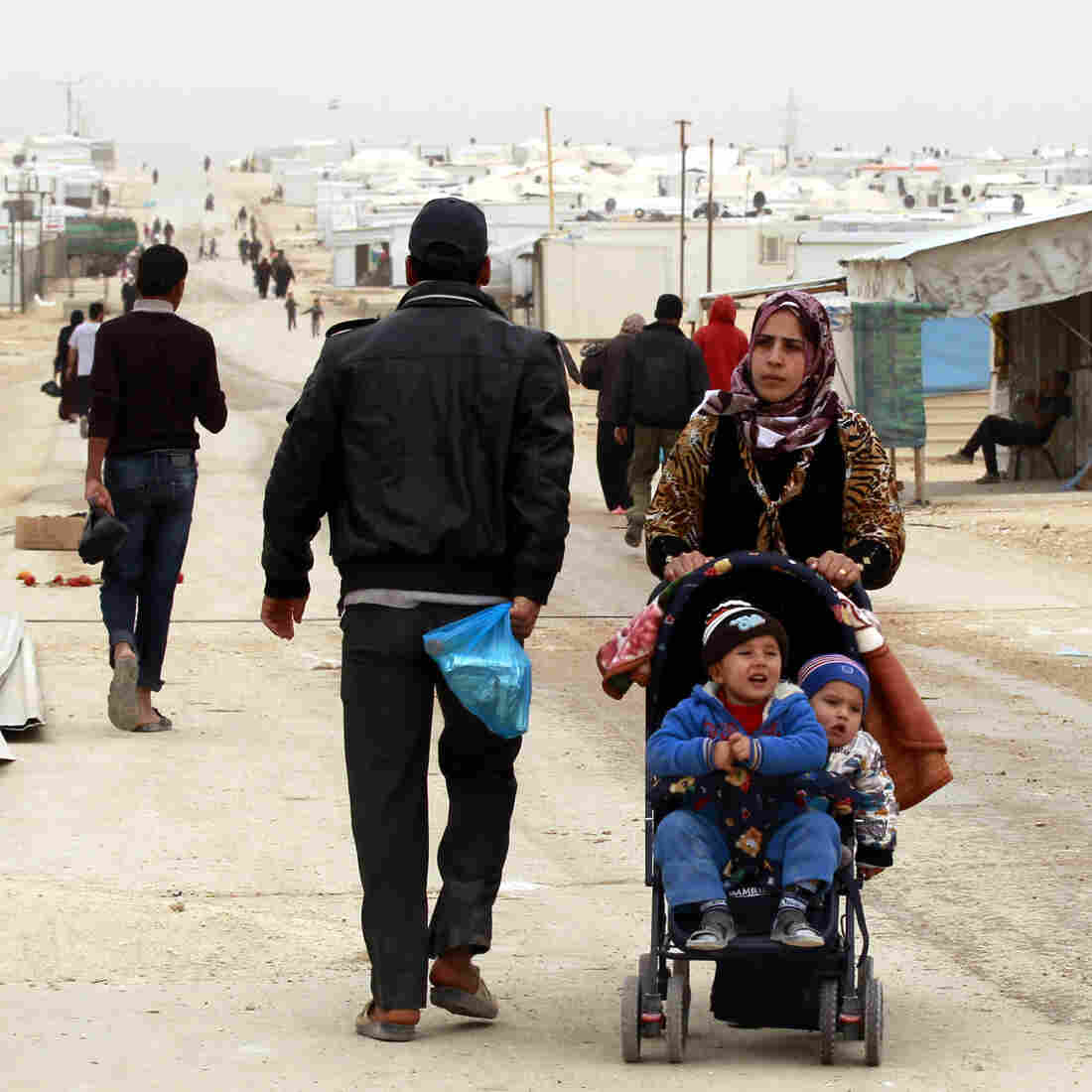 Syrian refugees have flooded the Zaatari refugee camp, near the Jordanian border with Syria.