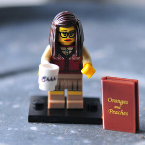 Nostalgia: Lego librarian with cup of Shhh!