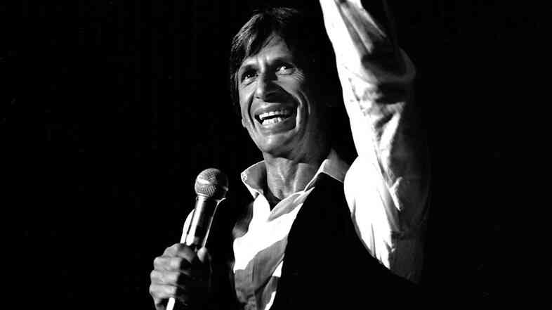 David Brenner performs at the Riviera Hotel in Las Vegas in 1981.