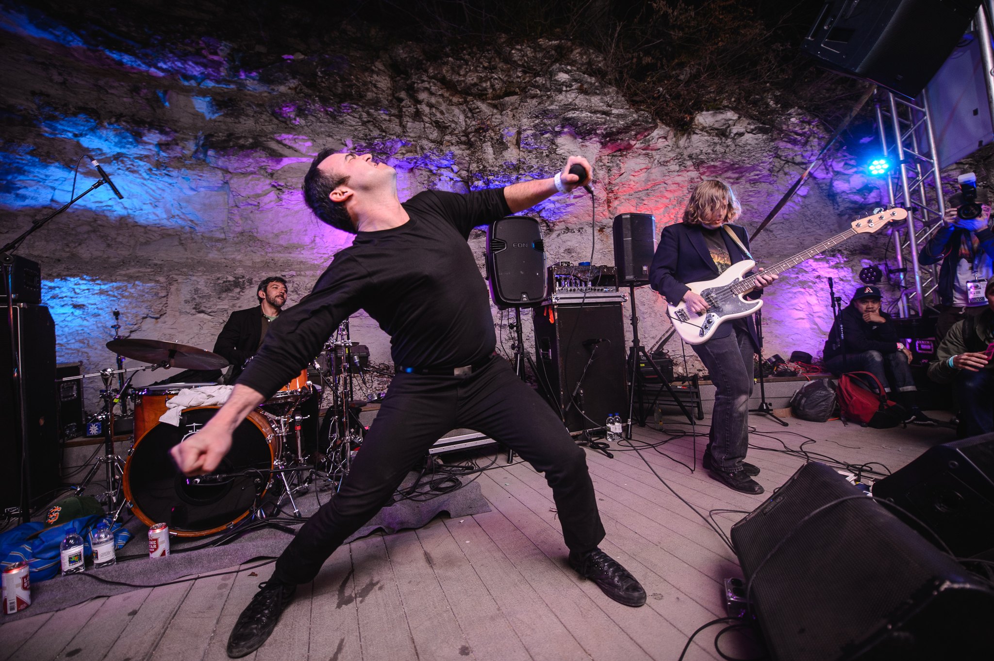 Future Islands' Samuel Herring laid claim to the stage at Cheer Up Charlie's in Austin.