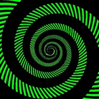 Green and black spiral pattern