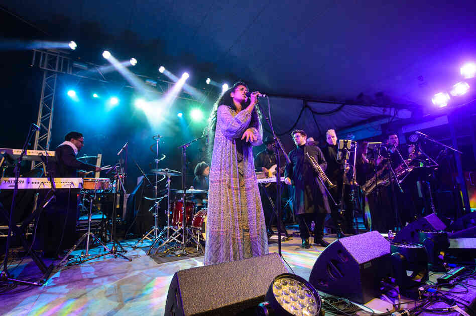 Kelis and her 12-piece band lit up the stage at Stubb's for NPR Music's SXSW showcase in a career-spanning set.