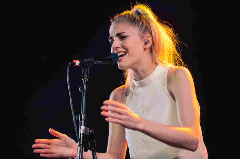 London Grammar's Hannah Reid performs at Stubb's during SXSW 2014.