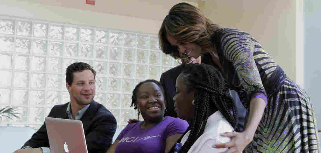 First lady Michelle Obama at an Affordable Care Act event in March.