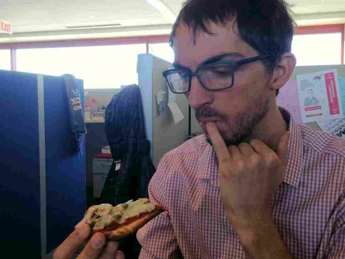 At publication time, Ian is still locked in a staring contest with his Flatizza.