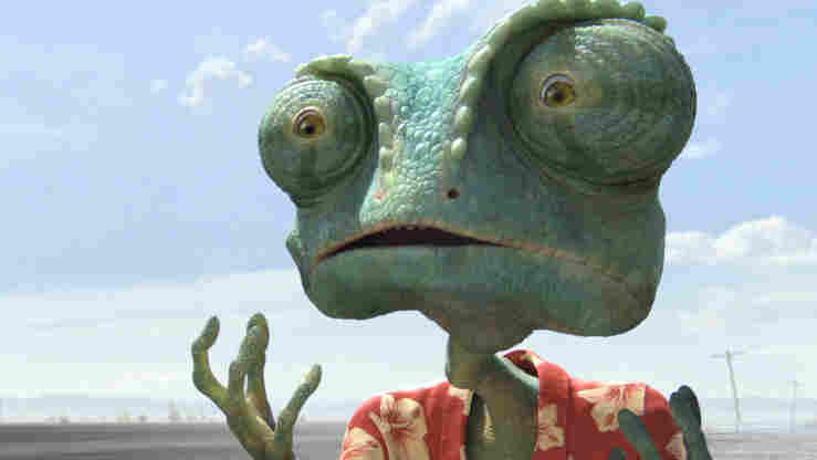 Lizard Of Ahs: After arriving in Dirt, Texas, an ordinary pet chameleon (Johnny Depp) re-creates himself as the sheriff of that crime-ridden desert town in Rango. In an ingenious animated film that follows classic Western tropes, he faces resident bullies who test his character and bravery.