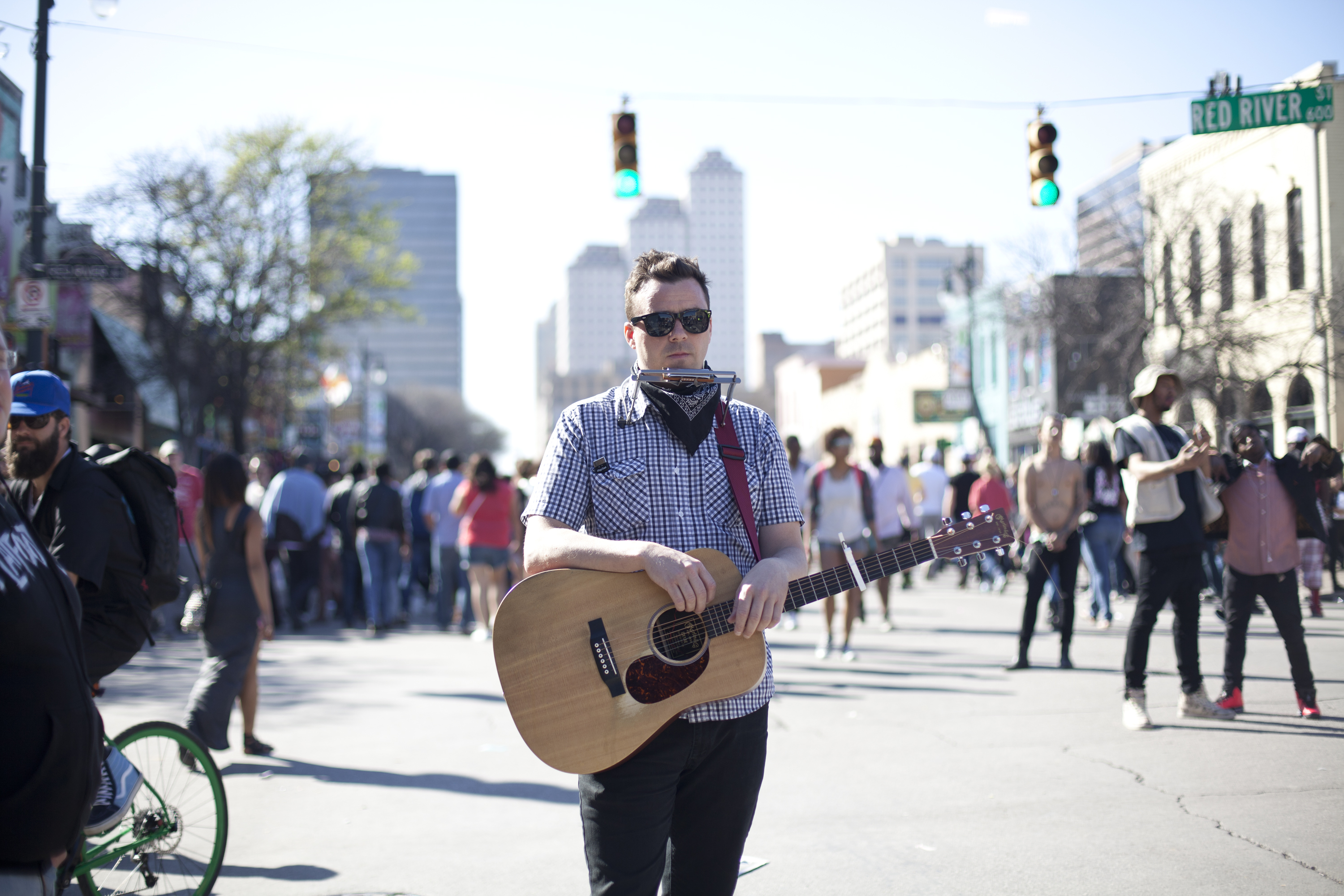 At SXSW, you can find music everywhere, even at stoplights.