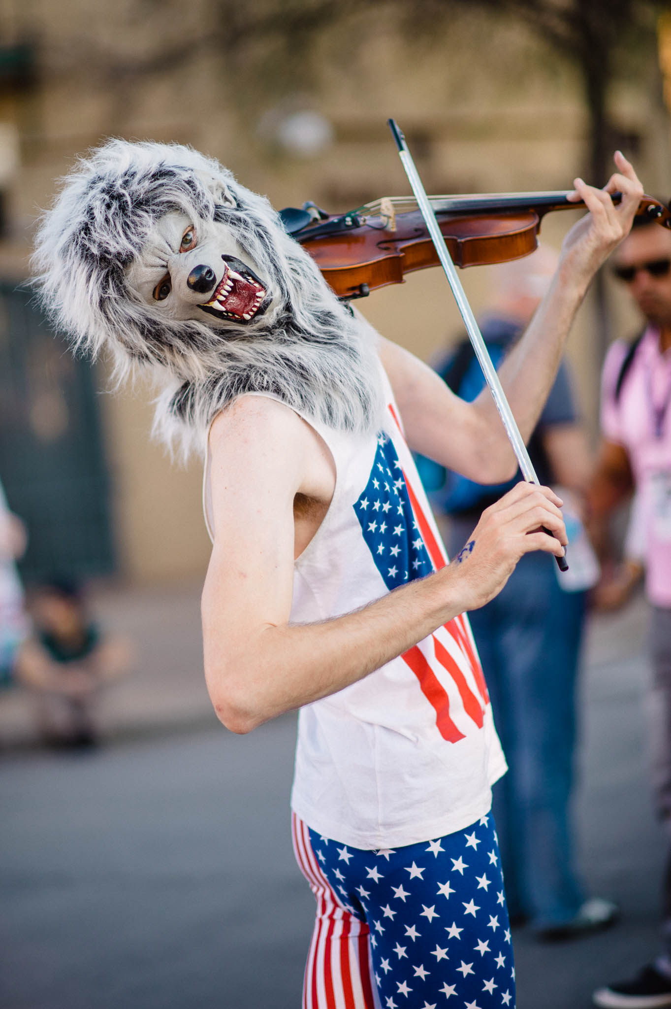 Werewolf violinist: Spooky, scary.