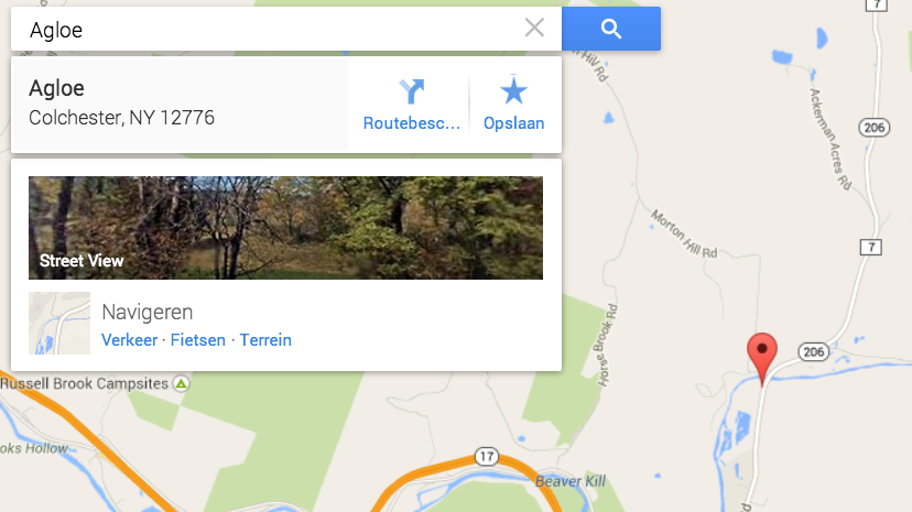 Agloe was on Google maps until quite recently.