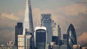 London's financial district, known as the Square Mile. Will it be one of the first dominoes to fall when society can no longer sustain itself?