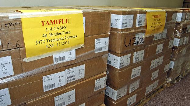 Part of Nebraska's 2009 stockpile of the anti-viral medicine, Tamiflu.