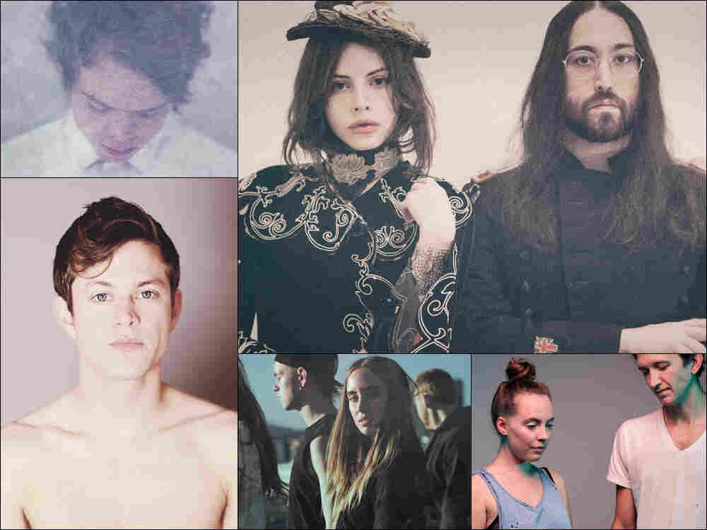 Clockwise from upper left: Vancouver Sleep Clinic, Ghost Of A Saber Tooth Tiger, Sylvan Esso, High As A Kite, Perfume Genius