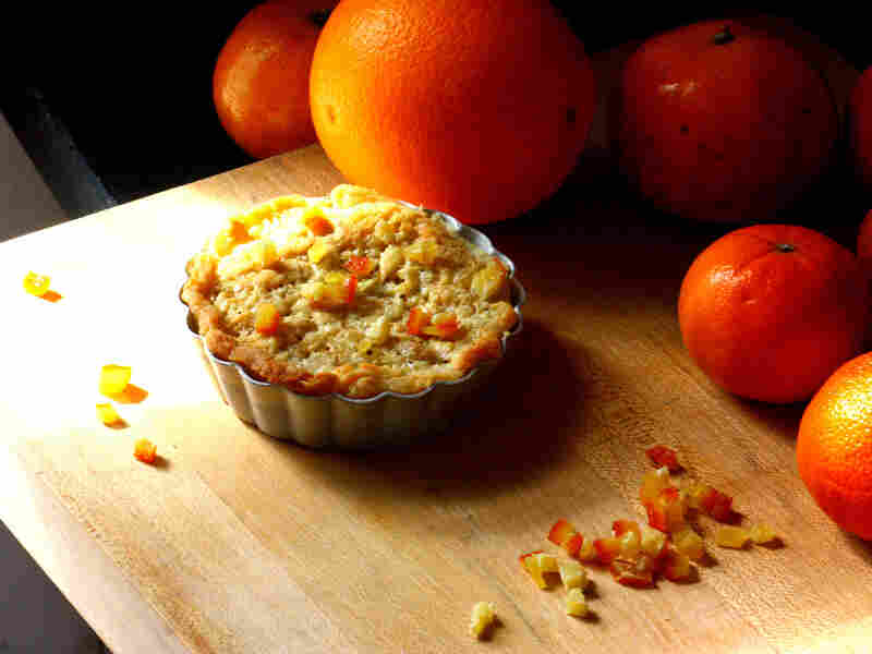 Orange, Almond And Pine Nut Tartlets