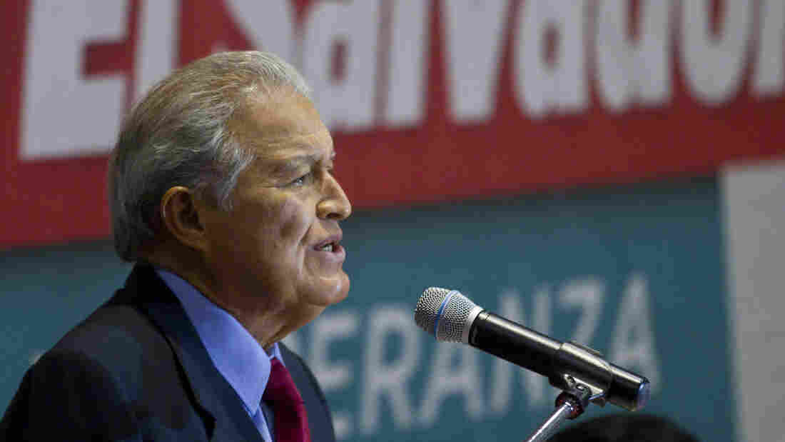 Salvador Sanchez Ceren, of the ruling Farabundo Marti National Liberation Front (FMLN), narrowly won the country's presidential election last week. Now he faces difficult challenges in a poor country that's been plagued by gang violence.