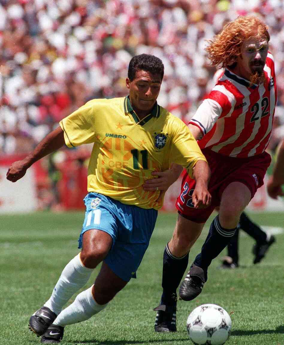 Alexi Lalas never caught up to Brazilian forward Romario. In 1994, the U.S. National Team made it past the group stage but was defeated in the following round by Brazil, the eventual champion.
