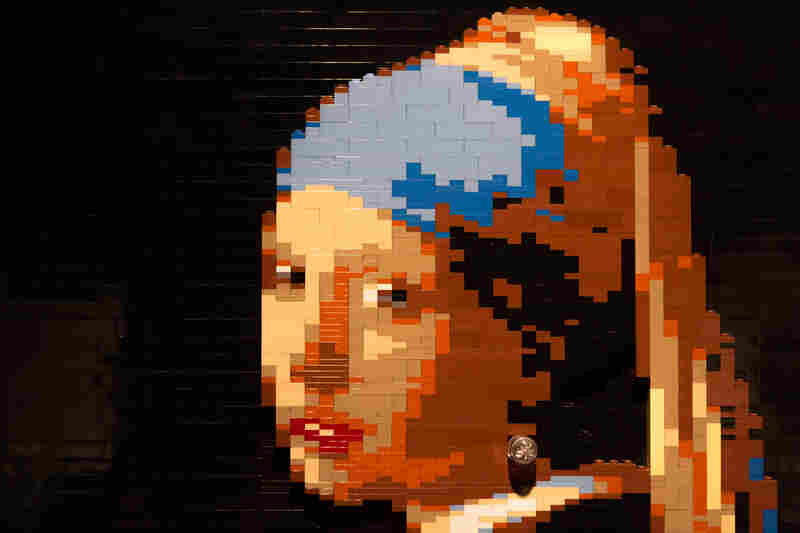 Girl With A Pearl Earring by artist Nathan Sawaya.