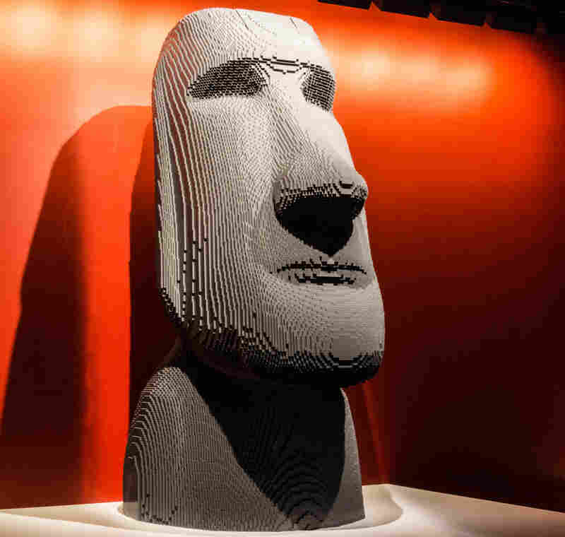 Moai by artist Nathan Sawaya.