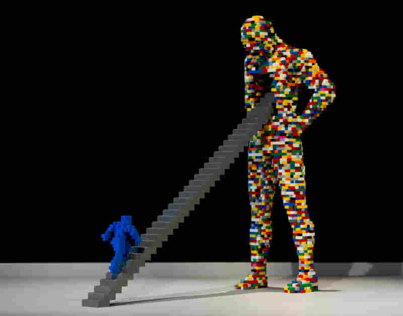 Stairway by artist Nathan Sawaya.