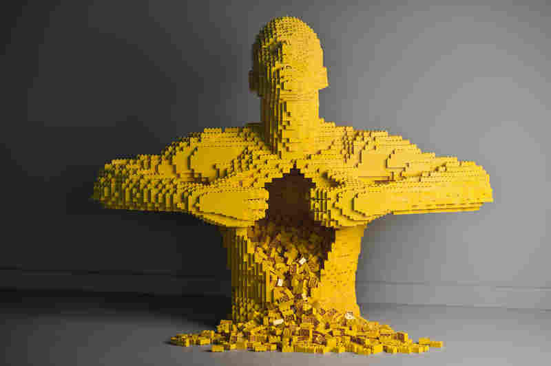 Yellow by artist Nathan Sawaya.