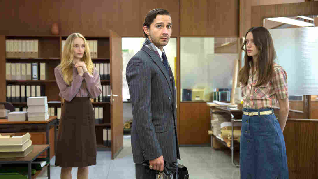 Felicity Gilbert, Shia LaBeouf and Stacy Martin in one of the episodic flashbacks that spin out the story of Nymphomaniac: Volume I.