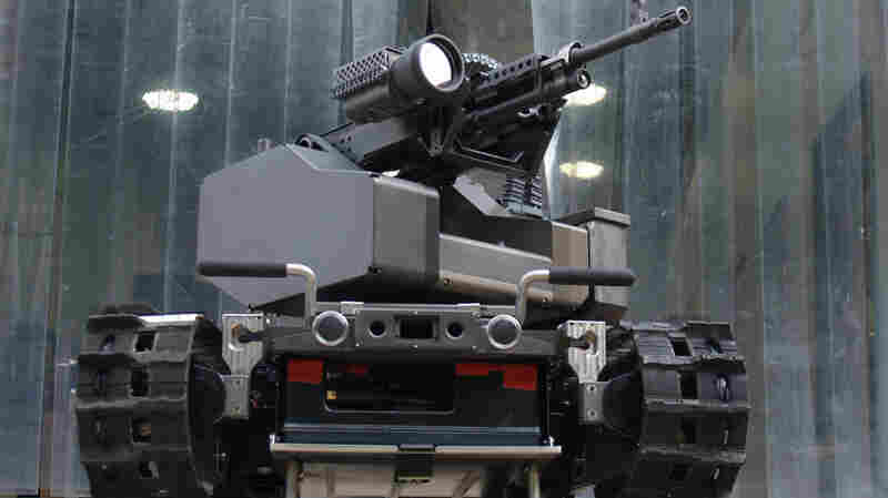 The TALON MAARS (Modular Advanced Armed Robotic System) can be transformed from a weaponized robot to one with an arm and gripper by changing out its modules.
