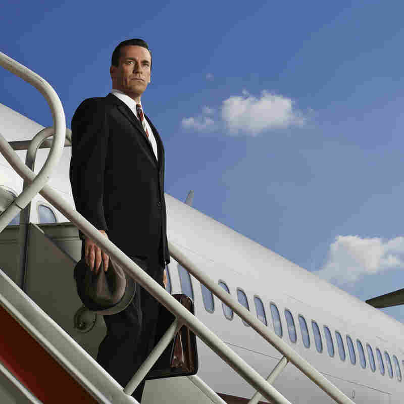 Jon Hamm as Don Draper in a publicity photo for the upcoming seventh season of Mad Men. This is pretty much all we know. If we told you more, we'd have to ... well, you know.