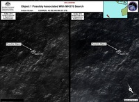 Satellite imagery provided to the Australian Maritime Safety Authority of objects that may possible debris of the missing Malaysia Airlines Flight MH370.