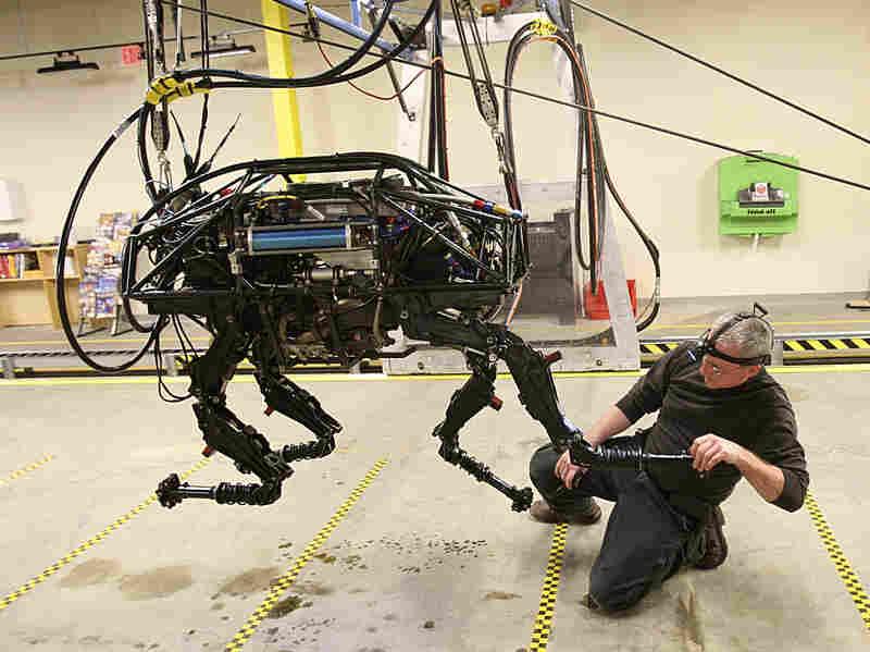 A BigDog robot at Boston Dynamics in 2010.